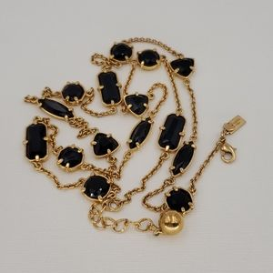 Kate Spade Gold and Black Scatter Necklace